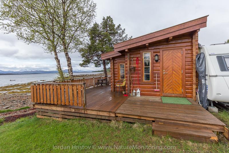 cabin by a caravan