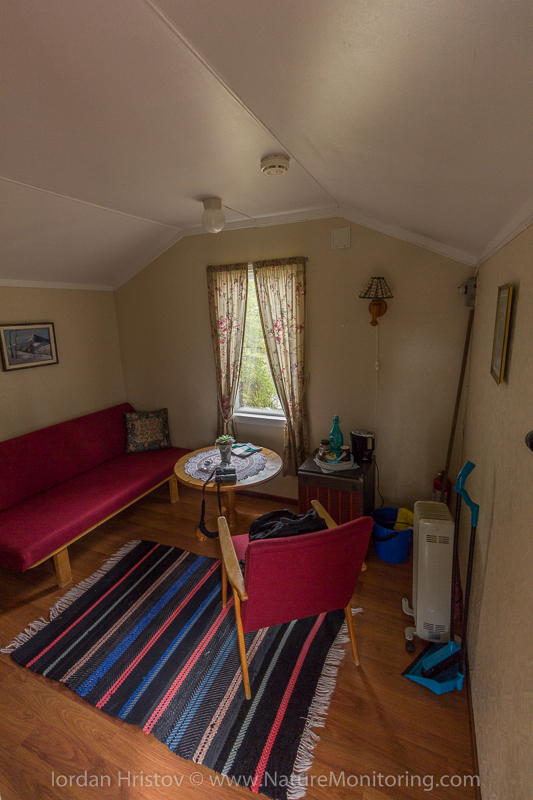 the inside of the bungalo