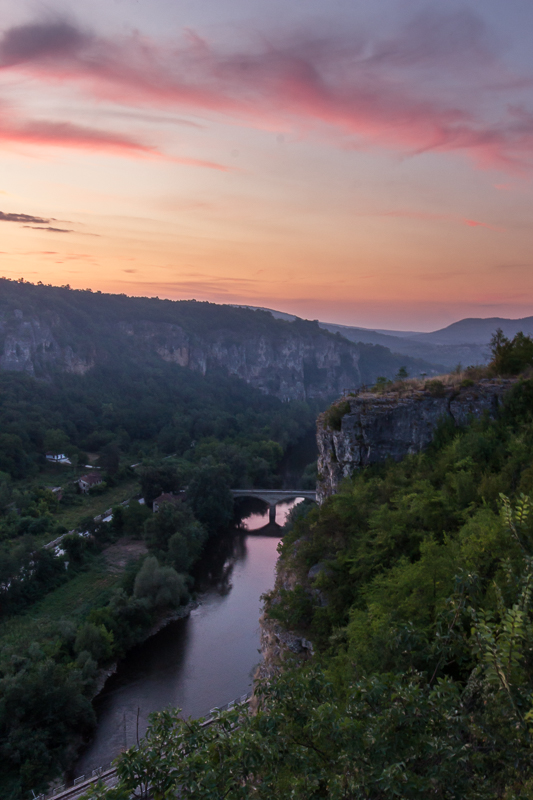 sunset over Iskar river from the lodge balcony © Iordan Hristov