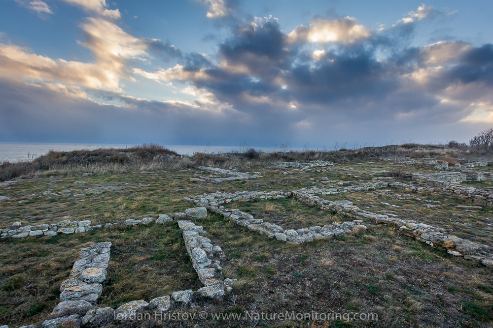 Remains from the fortress of cape Kaliakra