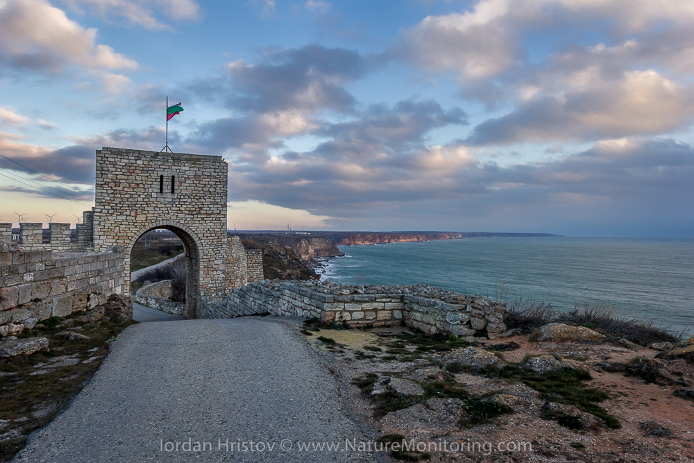 The fortress of cape Kaliakra and the coastline