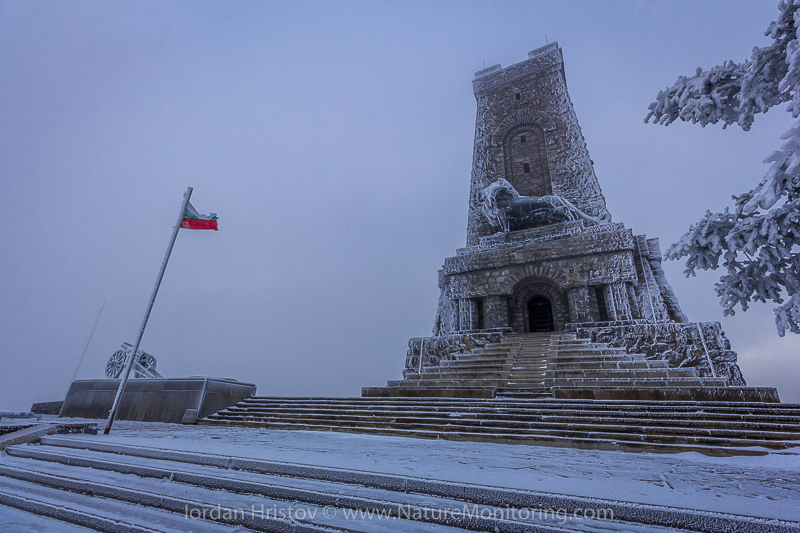 Shipka monument in winter