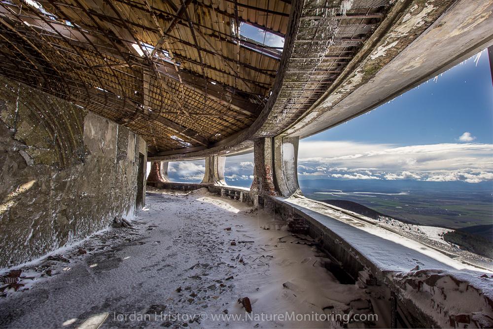 the mountain tops around Buzludzha monument © Iordan Hristov