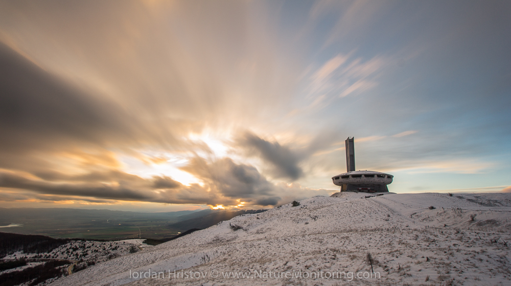 sunset over Buzludzha monument © Iordan Hristov