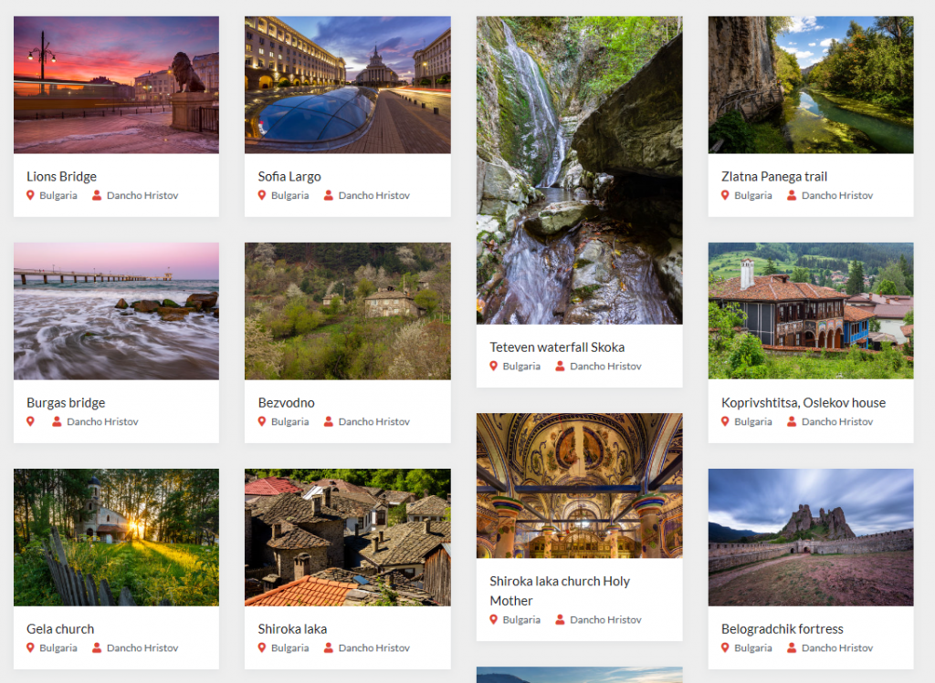 Photohound photography locations in Bulgaria
